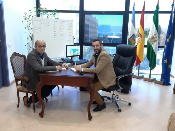 La Línea:  El alcalde aborda con el vicepresidente del Grupo Transfronterizo la preocupación que existe en la ciudad en torno al Brexit
