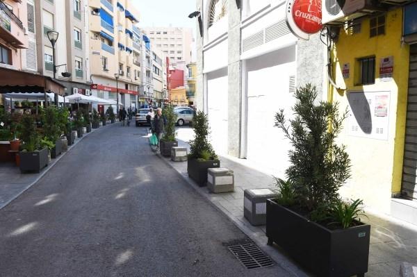"""Algeciras: Instalada la nueva ornamentación floral en el entorno del mercado de abastos """"Ingeniero Torroja"""""""