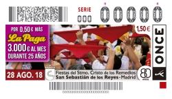 EL AYUNTAMIENTO DE SANSE Y LA ONCE COLABORAN EN LA PROMOCION DE LAS FIESTAS DEL CRISTO DE LOS REMEDIOS