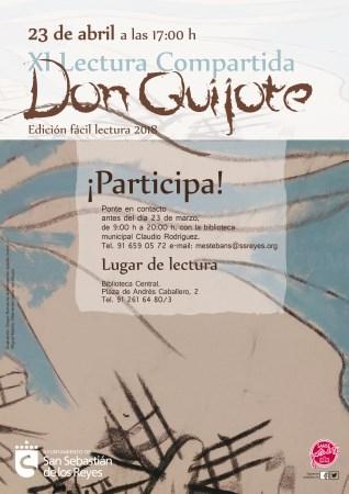 EL AYUNTAMIENTO DE SAN SEBASTIáN DE LOS REYES PREPARA LA 'XI LECTURA COMPARTIDA DE DON QUIJOTE, EDICIóN FáCIL LECTURA'