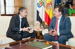 Fernández Vara agradece la visita del ministro de Fomento y mantiene las reivindicaciones para mejorar el tren en Extremadura