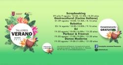 La concejalía de juventud organiza 6 talleres a partir del 29 de julio para niños y jóvenes a partir de los 8 años.