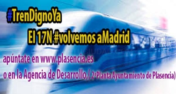 """El Ayuntamiento pone a disposición de los ciudadanos autobuses para asistir a las manifestaciones """"por un tren digno"""" convocadas en Madrid y en Cácere"""
