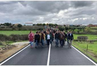 Inauguradas las obras de la carretera CC-27.1 de Plasenzuela a la N-521.