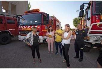 Isabel Ruiz Correyero visita el SEPEI y prevé un año importante con los tres nuevos parques de bomberos-