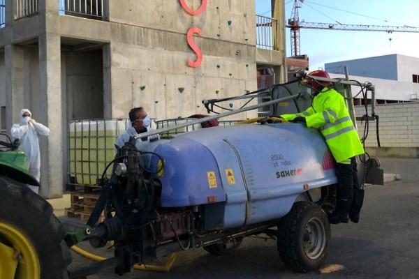 El CPEI realizó la pasada semana tareas de desinfección en quince centros de la provincia de Badajoz