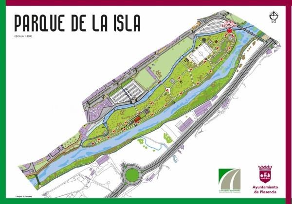 La Isla, el Cachón y los paseos del río dispondrán de señales de dirección para facilitar el distanciamiento en los paseos