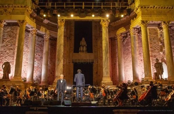 Bocelli y Stone&Music Festival deslumbran en la Noche del Patrimonio en Mérida