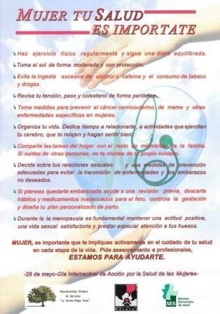 El Área de Salud Don Benito-Villanueva colabora en el Día Internacional de Acción para la Salud de las Mujeres
