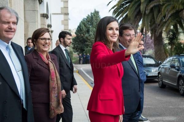 La reina Letizia y el presidente de la Junta asisten, en Cáceres, al acto de proclamación del Premio Social de la Fundación Princesa de Girona.