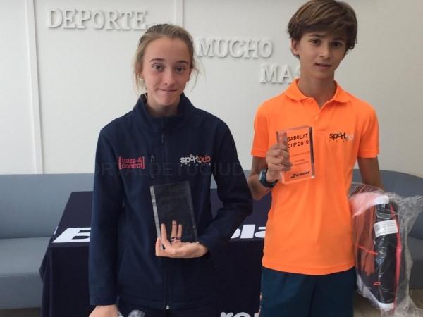Alejandra Pinilla se impone en la categoría alevin de la fase de Córdoba de la Babolat Cup