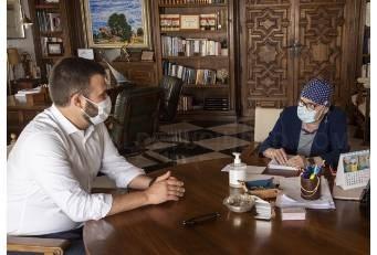 Charo Cordero y Luis Salaya retoman los encuentros presenciales para actualizar proyectos conjuntos
