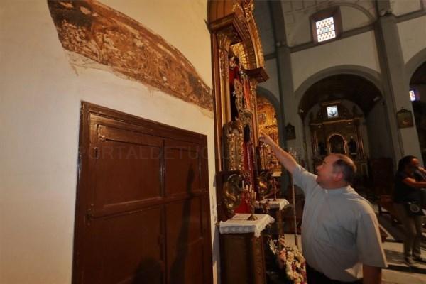 Descubren pinturas decorativas en dos capillas de San Agustín