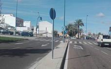 Herido grave un motorista en la colisión con un coche en Badajoz