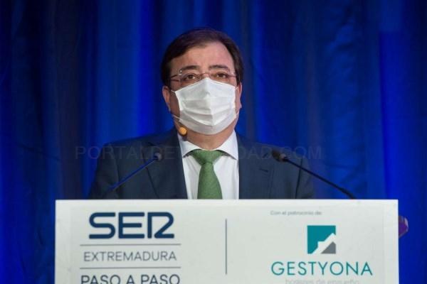 Fernández Vara destaca que Extremadura es una región que tiene 'un proyecto basado en la igualdad de oportunidades'