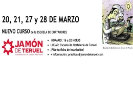 La Escuela de Cortadores de Jamón de Teruel pone en marcha un nuevo curso