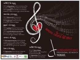 El Conservatorio de Música organiza la Semana Cultural del Amor