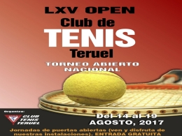 LXV Open Club de Tenis Teruel.- Absoluto masculino