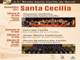 """Actividadesprogramadas por laAsociación Cultural Banda de Música """"Santa Cecilia"""" de Teruel y laEscuela Pública de Música """"Antón García Abril"""""""