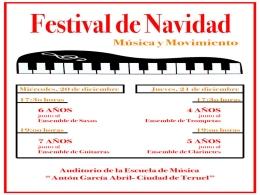"""Actividades de la A.C. Banda de Música """"Santa Cecilia"""" de Teruel y Escuela Pública de Música """"Antón García Abril Ciudad de Teruel"""""""