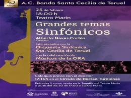 """Actividades programadas por la Asociación Cultural Banda de Música """"Santa Cecilia"""" de Teruel"""