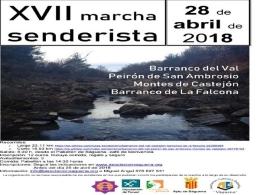 XVII Marcha Senderista Asociac. Cult. y Deportiva Vaguena