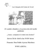Coloquio: El cambio climático y la protección del medio ambiente