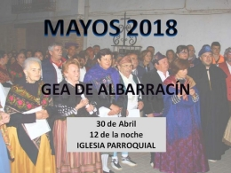 Mayos 2018 Gea de Albarracín