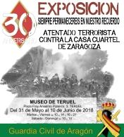 Exposición sobre el 30 aniversario del atentado terrorista en la casa cuartel de Zaragoza