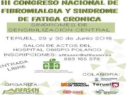 III congreso de Fibromialgia y Sindrome de Fatiga Cronica en Teruel