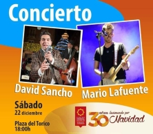 David Sancho y Mario Lafuente en concierto