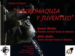 "Charla-coloquio ""Tauromaquia y Juventud"""