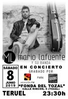 Mario Lafuente, en concierto