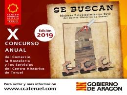 Décima edición del concurso para elegir a los mejores profesionales del Centro Histórico de Teruel