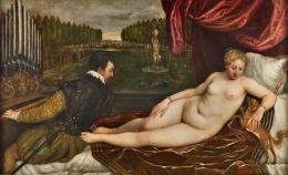 De gira por España / Tiziano. Venus recreándose con el Amor y la Música