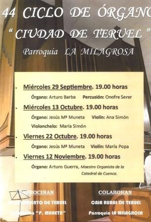 44 Ciclo de Órgano Ciudad de Teruel