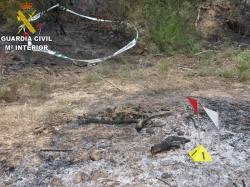 La Guardia Civil detiene al presunto autor de varios incendios en la Puebla de Híjar
