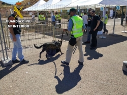 La Guardia Civil ha realizado más de 1.300 servicios durante el dispositivo de seguridad más importante de Aragón