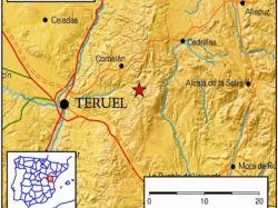 Un terremoto de intensidad 3,6 sacude la provincia de Teruel