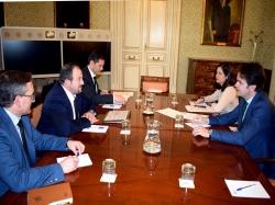 Millán y Juste se reúnen en Madrid con el secretario de Estado para las Administraciones Territoriales