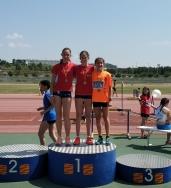 Infantiles de la Atlética Turolense se lucen en el Campeonato de Aragón en Atletismo en Pista