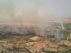 Seis meses de cárcel para un pirómano que provocó 6 incendios alrededor de La Puebla de Híjar en una tarde