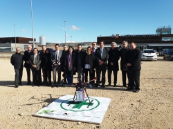 El Aeropuerto de Teruel acoge la presentación de Pharmadron, primera iniciativa de distribución de medicamentos a farmacias mediante drones