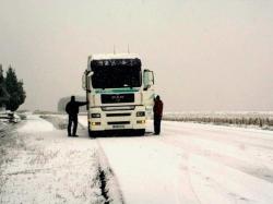 El temporal de nieve aísla a 16 camiones en las cercanías de Andorra