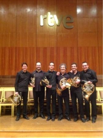 El Sexteto de Trompas de RTVE en concierto