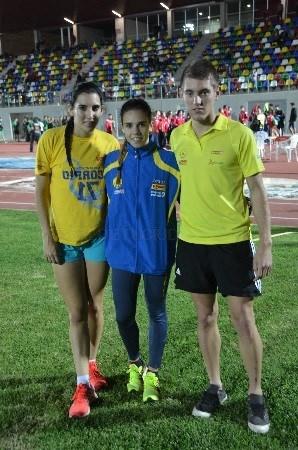 Erika Torner, Elena Martín y Jesús Ferrer en el Campeonato de España de Clubes Junior