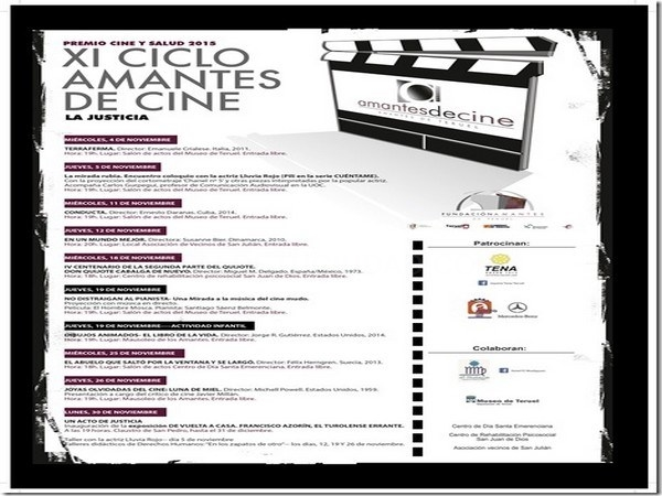 El XI Ciclo Amantes de Cine de la Fundación Amantes tendrá como temática la Justicia y contará con la actriz LLuvia Rojo