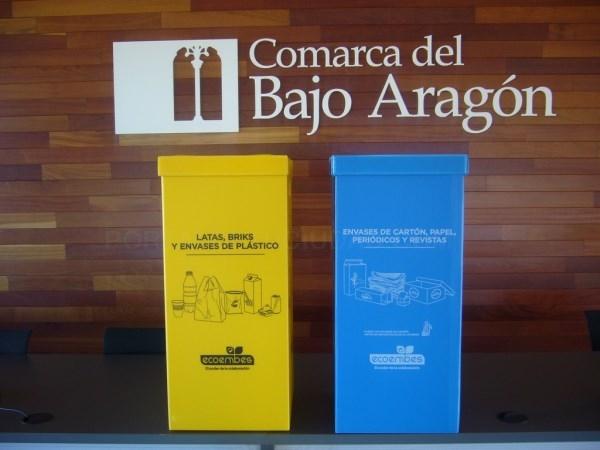 La comarca del Bajo Aragón estrena papeleras para separar los residuos