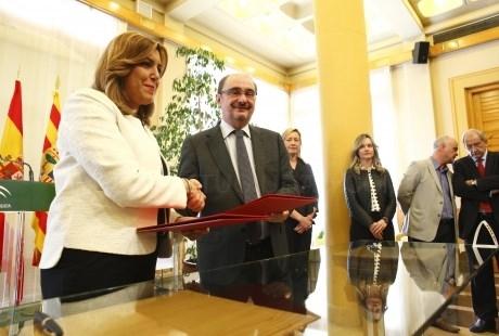 LOS PRESIDENTES DE ARAGóN Y ANDALUCíA EXIGIRáN AL ESTADO INVERSIóN EN LOS CORREDORES FERROVIARIOS