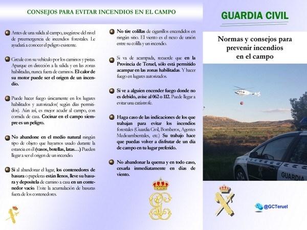 LA GUARDIA CIVIL DE TERUEL Y LA PREVENCIóN DE INCENDIOS